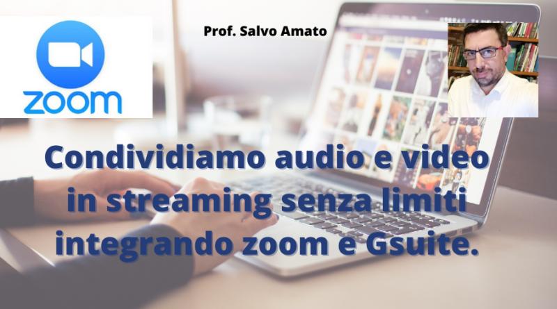 Condividere qualsiasi audio e video in videolezioni? E' possibile, ecco come